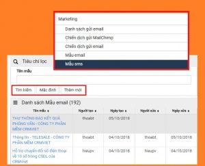 Tính năng Automation Marketing - Mẫu Email