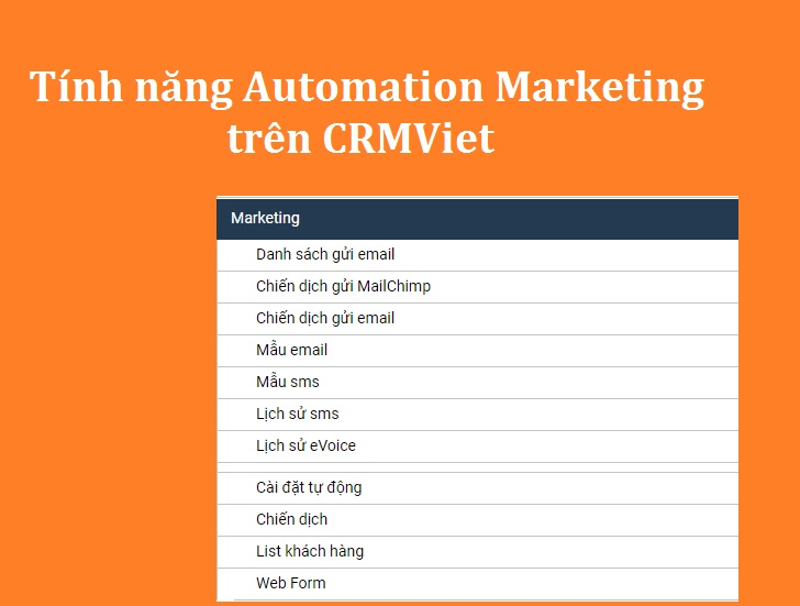Tính năng Automation Marketing