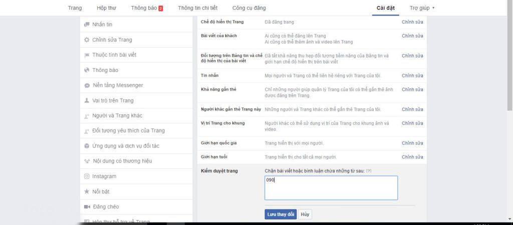 Ẩn Comment tự động fanpage facebook