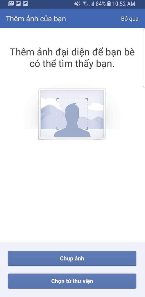 Bước 8: đăng ký tài khoản facebook bằng số điện thoại