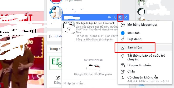 hướng dẫn tạo nhóm chat trên facebook
