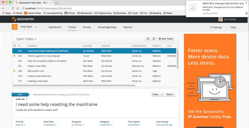 Quản lý tài sản bằng phần mềm SpiceWork