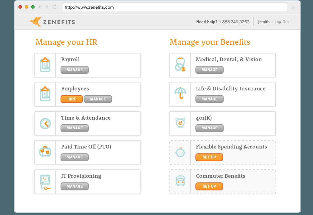 Quản lý nhân sự bằng phần mềm Zenefits