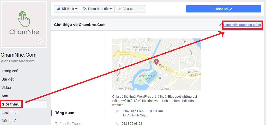 Thêm tính năng đánh giá cho Fanpage facebook