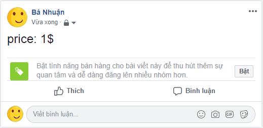 Cách bật tính năng bán hàng trên facebook cá nhân