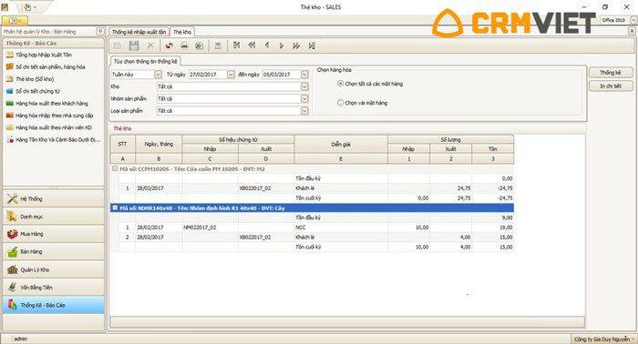 Phần mềm quản lý kho hàng GM Sales